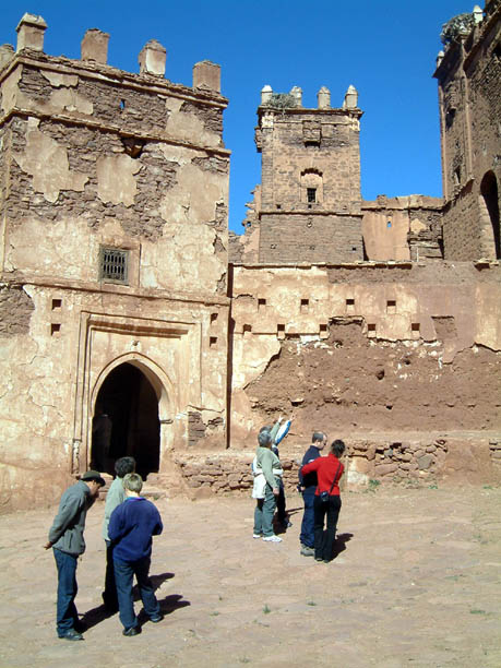 Arriving at Teleouet Kasbah
