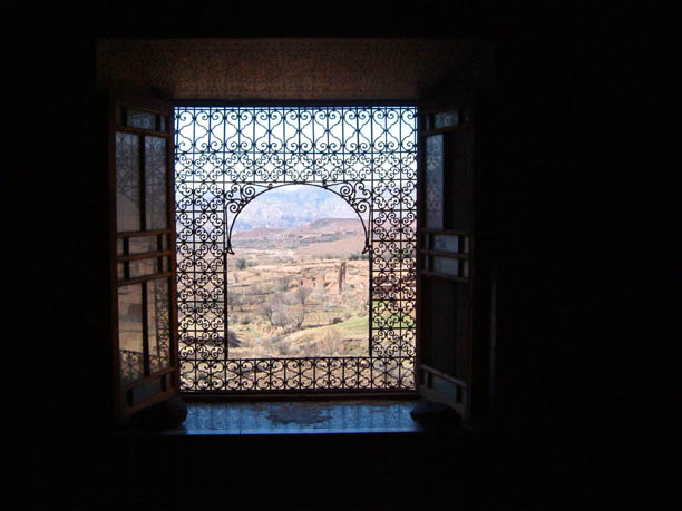 window at Teleouet Kasbah